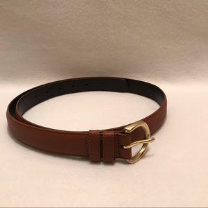 Vintage Coach Brown Leather Belt Extra Large